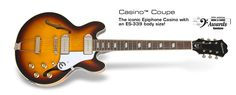 Casino Coupe: The iconic Epiphone Casino with an ES-339 body size!