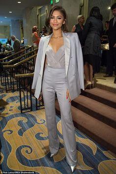 Zendaya looks the picture of elegance at formal dinner in LA Zendaya Outfits, Zendaya Style, Prom Outfits, Blazer Outfits, Mode Outfits, Classy Outfits, Chic Outfits, Fashion Outfits, Moda Fashion