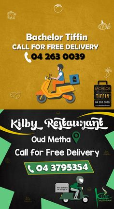 UAE: Do you need so mid week meal inspiration? Check out our featured listed restaurants BachelorTiffin.Com & Kilby Cafe & Restaurant - Dubai Call for free delivery now: 04 263 0039 Find them on our platform: http://connect.ae/f/kilby+cafe+&+restaurant:er5147829 #Restaurant #Dubai #UAE #ConnectUAE