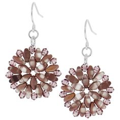 Dusty Rose Earrings | Fusion Beads Inspiration Gallery  http://s3.amazonaws.com/FusionBeads/pdf/inspiration_74018.pdf