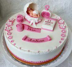 Welcome Baby Cake Baby Girl Christening Cake, Baby Boy Birthday Cake, Baby Girl Cakes, First Birthday Cakes, Tortas Baby Shower Niña, Baby Shower Cakes, Creative Cake Decorating, Quinceanera Cakes, Beautiful Birthday Cakes