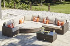 HALO 6 - RATTAN CORNER SOFA AND DAYBED - EXTENDED