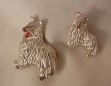 Always something exciting in store July 10 to 60 % Off many items sale Wonderful Mom and puppy Collie Dog set Brooch Gerry's