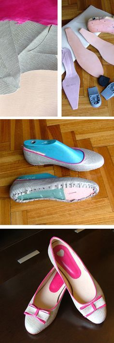 Chica outlet & DIY: chatitas con moño. Making my own shoes.