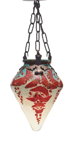 antique 1920s vintage exotic bird parrot glass pendant ceiling