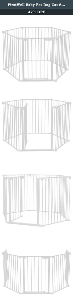 FirstWell Baby Pet Dog Cat Safety Fireplace Fence Guard Screen Hearth Fire Gate Metal Plastic, 6 Panels, White. For households with little ones and pets, This fence will allow you to keep you entire fireplace, grill or stove area safe from children. It surrounds and provides maximum safety for use around fireplaces and wood burning stoves of any shape or size. It can be installed in areas that don't have mounting points straight across, making it customizable to fit your needs. It's...