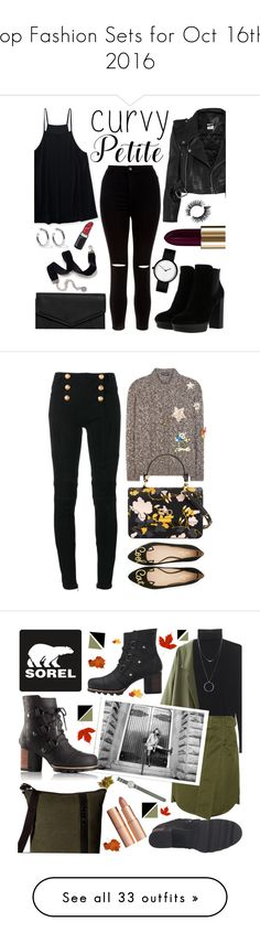 """""""Top Fashion Sets for Oct 16th, 2016"""" by polyvore ❤ liked on Polyvore featuring Aéropostale, Hogan, New Look, Vetements, Lancôme, Sweet Romance, Sophie Buhai, LULUS, powerlook and Balmain"""