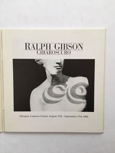 Ralph Gibson Chiaroscuro 1982 Olympus Camera Centre Exhibition Catalog