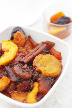 DRIED FRUIT COMPOTE --- This gorgeous Dried Fruit Compote is amazing with Greek Yoghurt for breakfast.Whip up a batch. You will be so glad you did.
