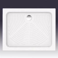 Terra 90x72 - Smukt brusekar i porcelæn med antiskrid mønster i bunden.  DESIGN4HOME #brusekar #brusebund #badeværelse Design