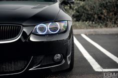 Closeup of BMW 3 Series Angel Eyes