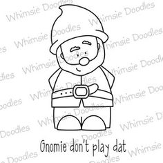 digital stamp,gnome,funny