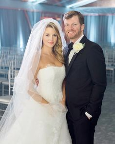 Dale Jr and Amy on their wedding day 12-31-16