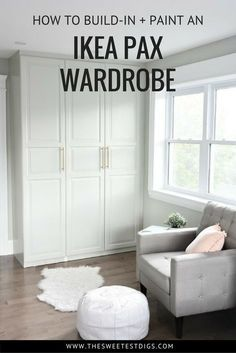 The IKEA Pax Hack. How to customize your Pax wardrobe and make it look built in. Including the best primer and paint for IKEA furniture! hacks closet pax wardrobe Get a Stunning Closet with this IKEA Pax Hack Diy Wardrobe, Ikea Wardrobe Hack, Ikea Wardrobe, Master Bedroom Closet, Ikea, Build A Closet, Ikea Pax, Ikea Built In, Ikea Pax Wardrobe