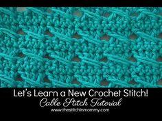 Puntada por cable Tejidos a Crochet