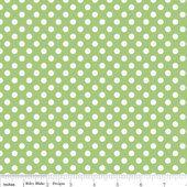 Small Dots Green Riley Blake  1 Fat Quarter by LemonTreeFabrics, $3.50