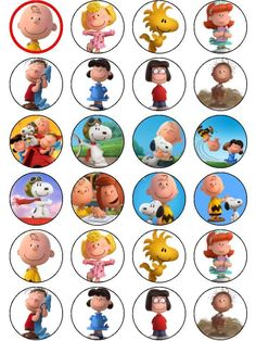 Charlie Brown & Snoopy The Peanuts Movie ICING Cupcake Topper in Home & Garden, Parties, Occasions, Cake | eBay