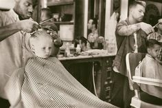 Youngsters at the Barber Shop. Grooming young men to become gentlemen. www.loganbros.com