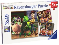 Ravensburger Disney Pixar: Woody and Rex (3 x 49-Piece) Puzzles in a Box