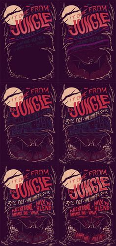 It Came From The Jungle: Halloween 2013 by Ian Jepson, via Behance