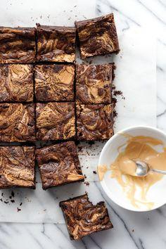 Fudgy Brownie Recipe with Caramelized White Chocolate Swirl