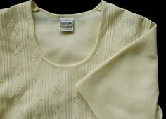 Vintage real classic short sleeves cardigan pullover yellow