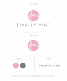 Logo design for an online shoe boutique | By Clementine Creative | #monogram #pink_logo
