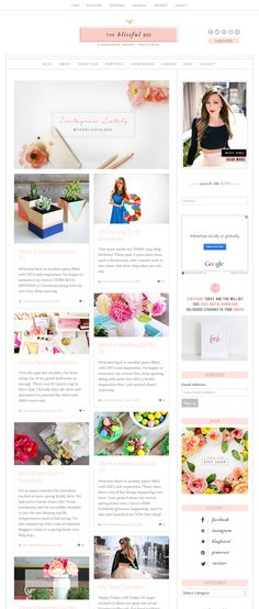 Love this lovely site running on an Angie Makes Wordpress theme. Blog Website Design, Website Themes, Ecommerce, Make Theme, Blog Design Inspiration, Blog Layout, Wordpress Theme, Beautiful, Design Layouts