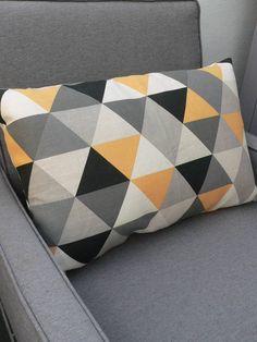 Geometric Triangle Cushion In Yellow