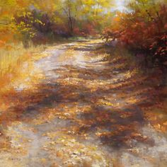"""https://www.facebook.com/MiaFeigelson """"Come this way"""" By Phil Bates, from Roseburg, Oregon, US (b. 1954) - soft pastel painting; 18 x 18 in - This painting won an award at the Pastel Society of America Exhibition in 2011. Phil Bates has been painting with soft pastels since 2005 https://www.facebook.com/PRBates"""