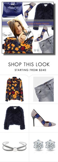"""Shift"" by nusongbird ❤ liked on Polyvore featuring Mother of Pearl, MSGM, Hermès, Malone Souliers and Honora"
