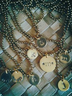 Hand stamped necklaces and bracelets get your own at juniperhartdesign.etsy.com