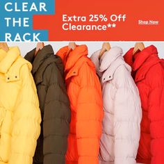 Nordstrom Rack Clear the Rack Sale! Extra off clearance items. Clearance Sale, Winter Coat, Nordstrom Rack, Shop Now, Winter Jackets, Sweaters, Winter Coats, Winter Vest Outfits, Pullover