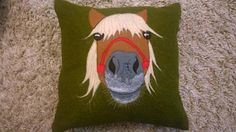 Holly the Pony Cushion Inspired by my stubborn little shetland pony, she can be made with different colours of felt to turn her into your very own