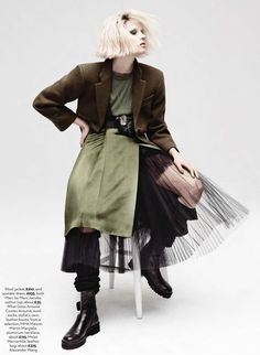 #EgleTvirbutaite by #Takay for #MarieClaireUK October 2014