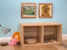 Montessori inspired room for an infant Montessori Bedroom, Montessori Toddler, Toddler Activities, Natural Shelves, Infant Classroom, Preschool At Home, Baby Bedroom, Working Area, Room Inspiration