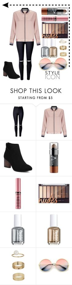 """""""Style Icon"""" by xonfident ❤ liked on Polyvore featuring Miss Selfridge, Cheville, Maybelline, NYX, Essie and ZeroUV"""