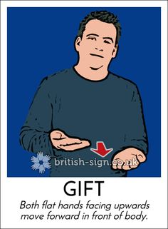 Today's #BritishSignLanguage sign is: GIFT #Christmas