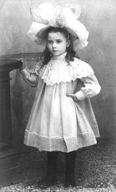 Maria Valtorta, Italian religious writer and mystic, at 5 years old in 1902.