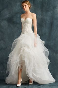 <img> High-Low Sweetheart Neckline Layers Wedding Dresses with a Wide Skirt in Tulle Draped Source by - Klienfeld Wedding Dresses, Tulle Wedding Skirt, Most Beautiful Wedding Dresses, Wedding Gowns With Sleeves, Long Sleeve Wedding, Bridal Gowns, Affordable Prom Dresses, Custom Dresses, Occasion Dresses