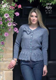 Cardigan   Sweater in King Cole 4 Ply - 3418 4b05f9987