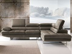Sectional sofa with chaise longue HABART By Franco Ferri Italia