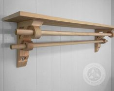 Pair of Shelf Brackets with Dual Curtain/Drapery Holder Uniquely Designed and Handcrafted from reclaimed wood Wooden Curtain Rods, Diy Curtain Rods, Drapery Rods, Curtains And Draperies, Double Rod Curtains, Diy Curtains, Valances, Wooden Corbels, Wooden Brackets