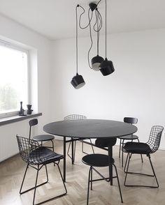 All black dining room @minna_jones