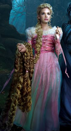 Rapunzel is one of the six tritagonists from the film Into the Woods and is portrayed by Mackenzie Mauzy. She is the sister of the Baker, who is cursed by the Witch. She is loosely based on the protagonist from the fairy tale of the same name. Rapunzel is a beautiful, yet sheltered, young woman confined to a tower who longs to be treated like an adult and to experience life.