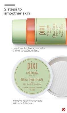 Exfoliation is key. It removes dead skin cells to boost circulation and skin renewal, unclogs pores, and makes skin look younger. But what should you use and when? The biggest difference between these 2 natural faves from Pixi is the amount of glycolic acid—the key ingredient in skin sloughing. Glow Tonic has 5% glycolic acid for a glow that's gentle enough for everyday use and every skin type. Peel Pads have 20% glycolic acid for a weekly treatment to energize and to even texture and tone.