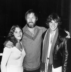 Actor David Carradine, center, with his daughter Calista and brother Robert Carradine, attending the premiere of the movie 'Bound for Glory', at the Beverly Wiltshire Hotel, California, October 1976.