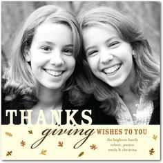 Thanksgiving photo cards, Harvest Leaves $2.49