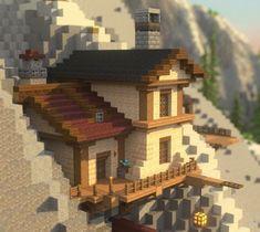 Minecraft Mountain House, Minecraft Small House, Minecraft House Plans, Minecraft Farm, Minecraft Cottage, Cute Minecraft Houses, Minecraft House Designs, Minecraft Construction, Amazing Minecraft