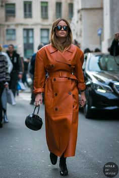 Milan Fashion Week Fall 2017 Street Style: Miroslava Duma